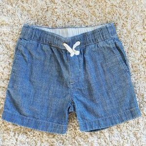 Toddler boy's chambray shorts